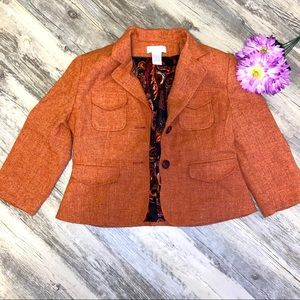 Worthington 3/4 Sleeve Orange Blazer EUC